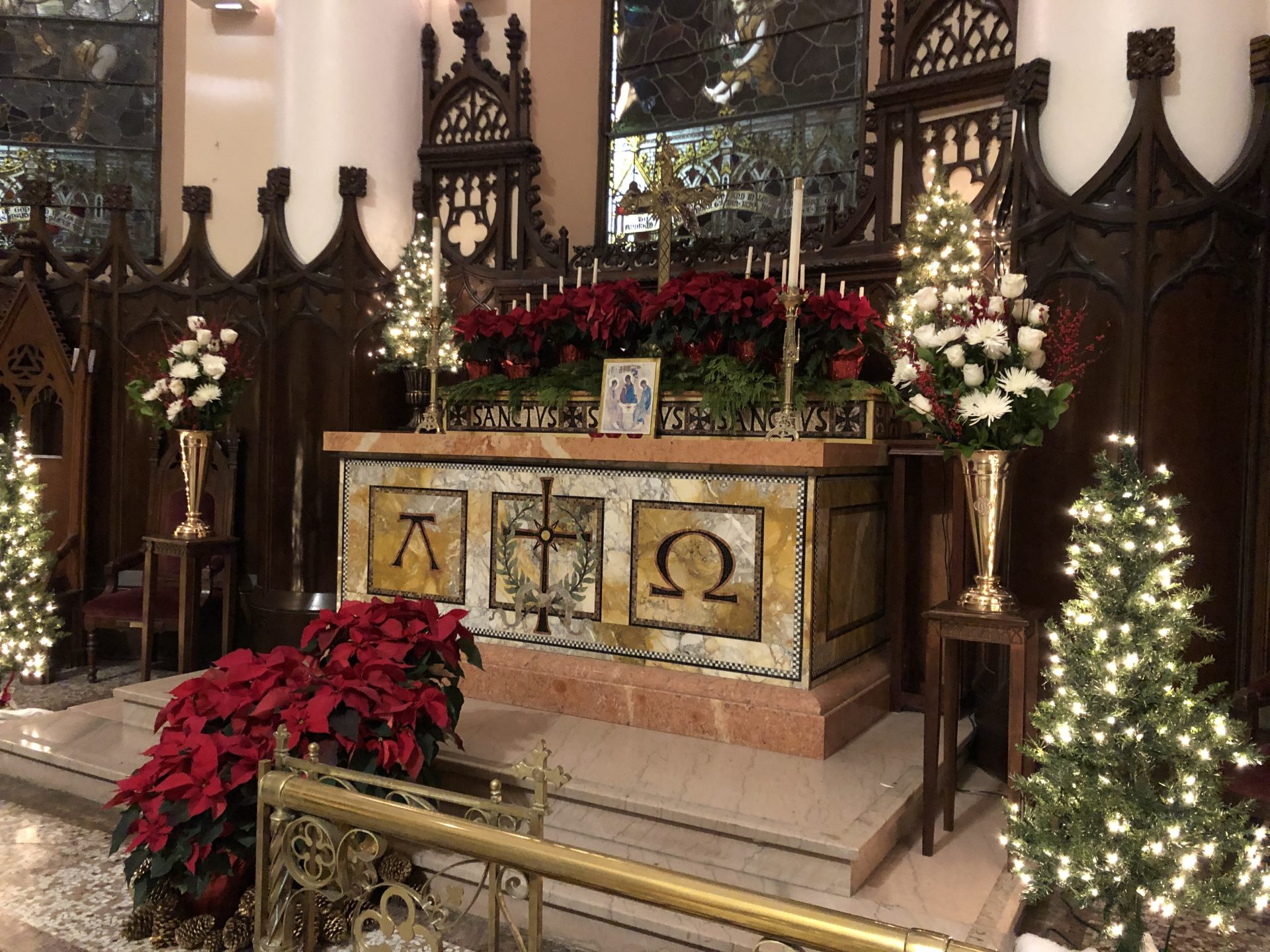 Main Sanctuary at Christmas